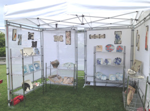 Frog Song Designs booth at Camden Harbor Arts Festival 2017