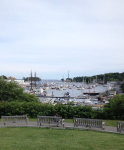 Harbor view at Camden Harbor Arts Festival 2017